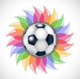 Football and flower. Stock Photography