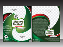 Football flyer template design template Stock Photos