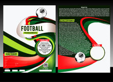 Football Flyer Template Stock Images