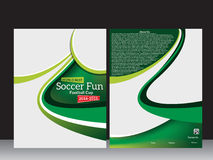 Football Flyer Template Stock Image