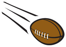 Football Flying Through Air. A cartoon football flying through the air at high speed Royalty Free Stock Image