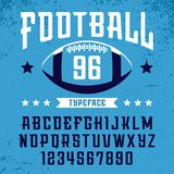 Football font. Vector alphabet with latin letters and numbers.  Stock Photography
