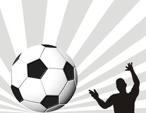 Football and footballer Royalty Free Stock Photography