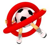 Football is forbidden. Play in football is forbidden Royalty Free Stock Photo
