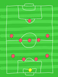 Football formation Stock Photography