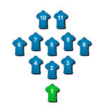 Football formation Stock Image