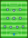 Football formation Stock Photo
