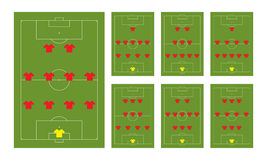 Football formations Stock Photo