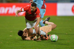 Football foul Stock Image