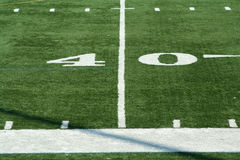 Football fourty yard marker Royalty Free Stock Photo