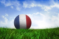 Football in france colours Royalty Free Stock Photography