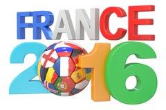 Football France 2016 concept. 3D rendering royalty free illustration