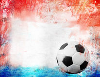 Football on France's flag colored background Stock Images