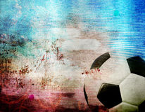 Football on France's flag colored background Royalty Free Stock Photography