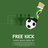 Football Free Kick Royalty Free Stock Photo