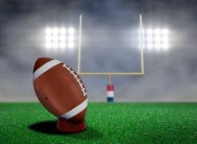 Football Free Kick with Spotlights. And Smokes Royalty Free Stock Photo
