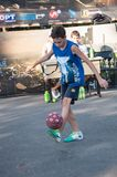 Football Freestyle competitions Royalty Free Stock Images