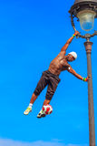 Football Freestyle Iya Traore juggling a Ball Stock Photo