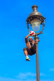 Football Freestyle Iya Traore juggling a Ball Stock Image