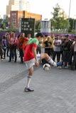 Football freestyler Royalty Free Stock Photos