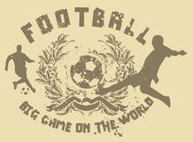 Football game 02. Football is a universal sport shirt graphic design Royalty Free Stock Photos