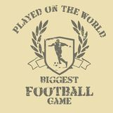 Football game 03. Football is a universal sport shirt graphic design Stock Photo