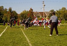 Football game stock photo