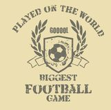 Football game. Football is a universal sport shirt graphic design Stock Photo
