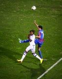 Football game Arsenal vs Dynamo Kyiv Royalty Free Stock Images