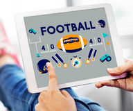 Football Game Ball Play Sports Graphics Concept Royalty Free Stock Photography