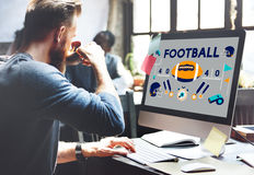 Football Game Ball Play Sports Graphics Concept Royalty Free Stock Images