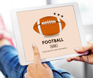 Football Game Ball Play Sports Graphics Concept Stock Images