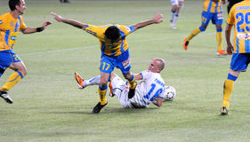Football game, Cyprus, Apoel agains Anorthosis. Royalty Free Stock Image