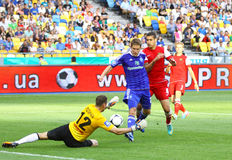 Football game Dynamo Kyiv vs Metalurh Zaporizhya Stock Images