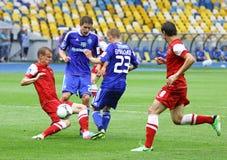 Football game Dynamo Kyiv vs Metalurh Zaporizhya Stock Photo
