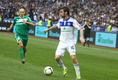 Football game Dynamo Kyiv vs Vorskla Poltava Stock Photo