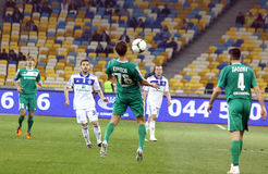 Football game Dynamo Kyiv vs Vorskla Poltava Royalty Free Stock Photo