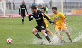 Football game between Eordaikos and Paok Stock Photography