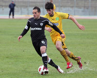 Football game between Eordaikos and Paok Stock Images