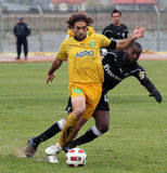 Football game between Eordaikos and Paok Royalty Free Stock Photography