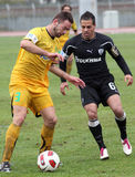 Football game between Eordaikos and Paok Stock Image