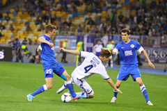 Football game FC Dynamo Kyiv vs FC Dnipro Royalty Free Stock Image