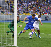 Football game FC Dynamo Kyiv vs FC Dnipro Stock Photography