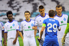 Football game FC Dynamo Kyiv vs FC Dnipro Stock Photos
