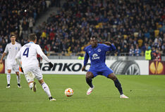 Football game FC Dynamo Kyiv vs FC Everton Royalty Free Stock Photography