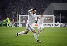 Football game FC Dynamo Kyiv vs FC Everton Stock Photography