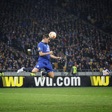 Football game FC Dynamo Kyiv vs FC Everton Stock Images