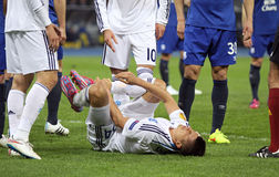 Football game FC Dynamo Kyiv vs FC Everton Stock Photos