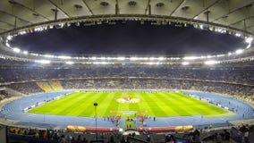 Football game FC Dynamo Kyiv vs Fiorentina (Time Lapse) stock footage