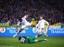 Football game FC Dynamo Kyiv vs Shakhtar Donetsk Stock Photography